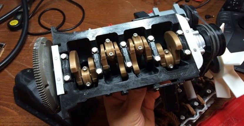 Imprimen un motor de Toyota con una Prusa