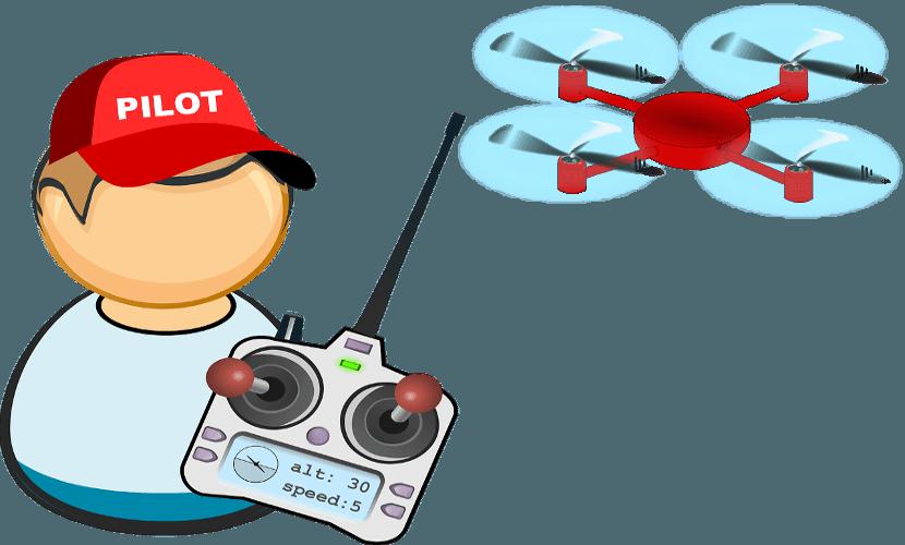 Trabajo piloto drones