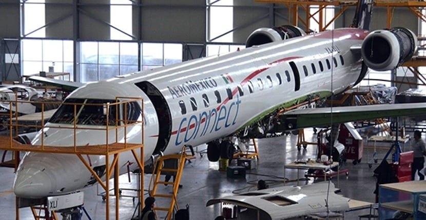 reparacion de avión