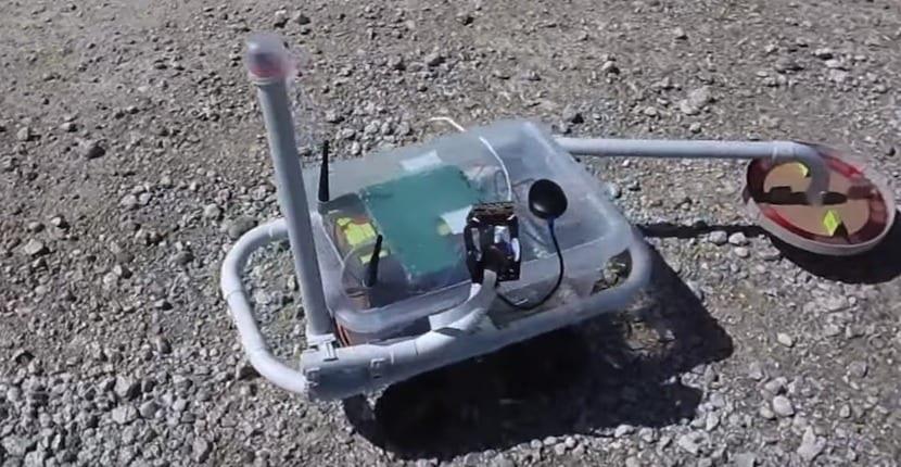 robot detector de metales