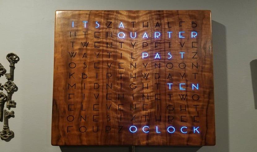 Reloj de palabras