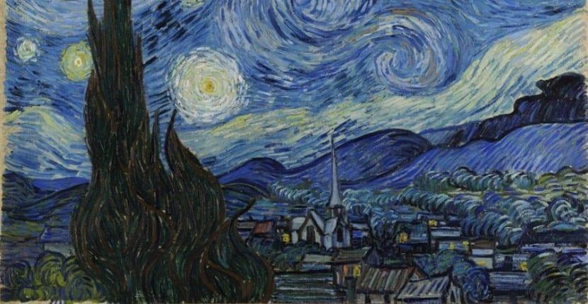 réplica del cuadro 'La noche estrellada'