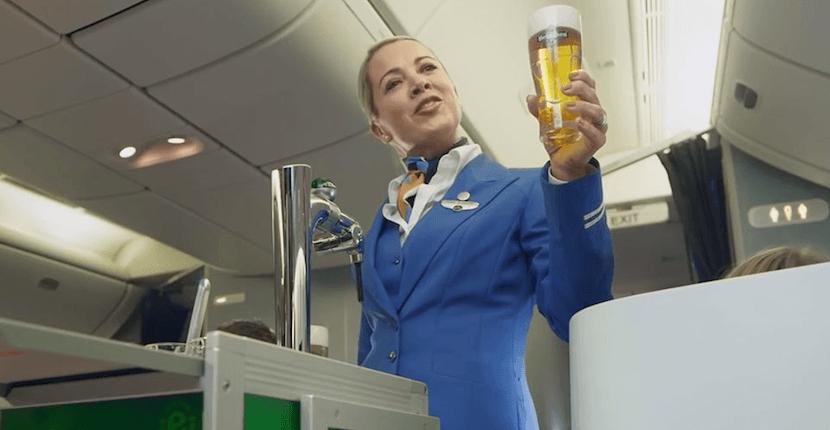 cerveza de barril en KLM