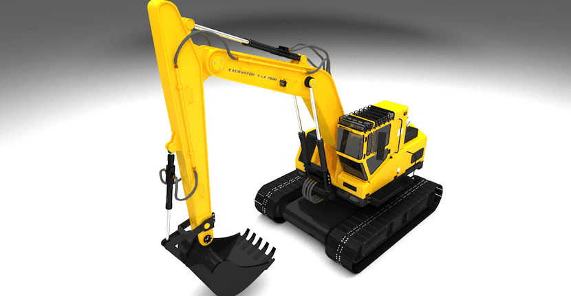 escavadora impresa en 3D