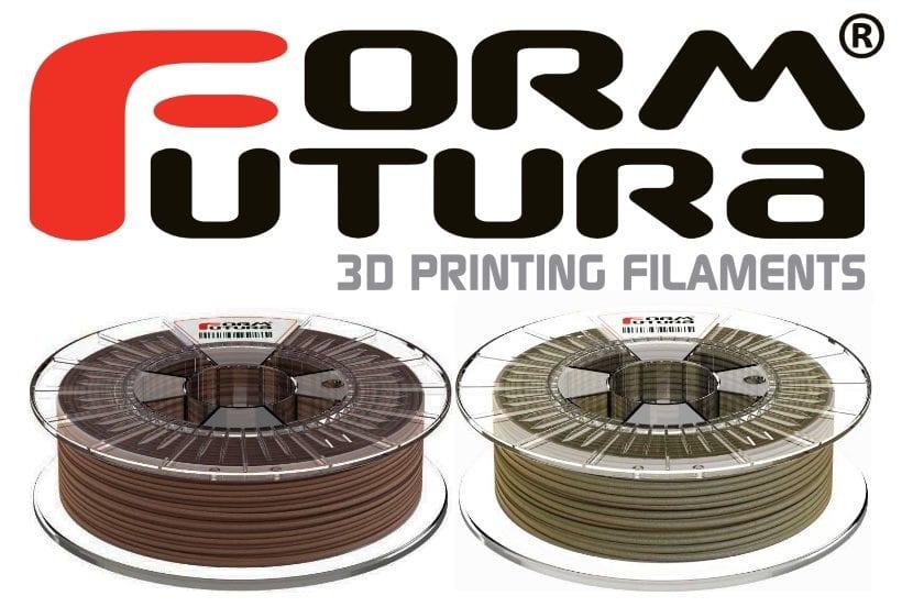 filamentos de corcho y madera de FormFutura