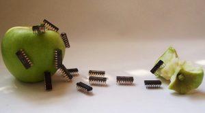 Manzanas con chips