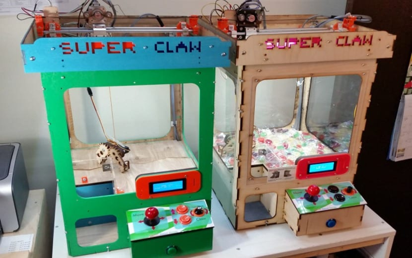 SuperClaw, máquinas con Arduino Mega