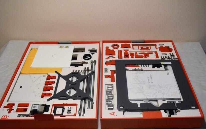 unbox impresora 3D en KIT BQ HEPHESTOS
