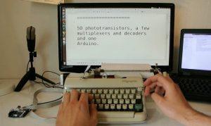 Máquina de escribir con Arduino