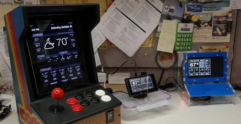Imagen de una estación meteorológica creada con Raspberry Pi