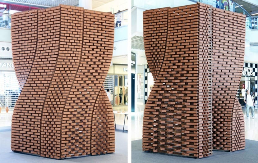 escultura de ladrillos