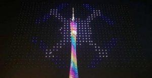 iluminación drones
