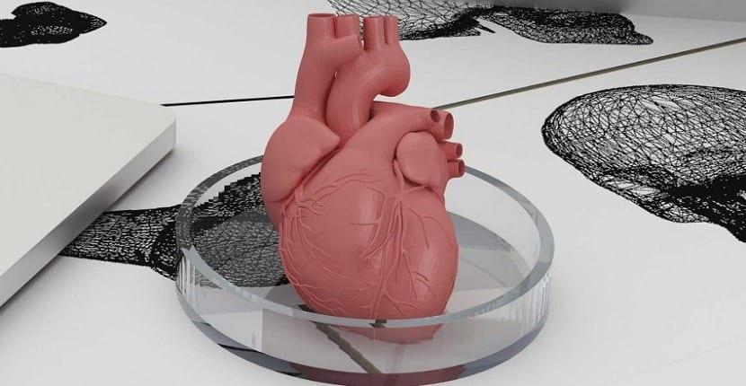 corazón impreso
