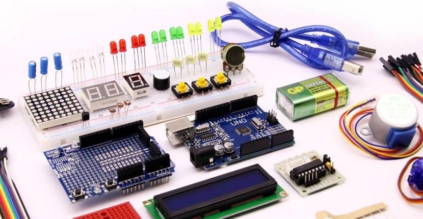 kit Arduino con sensores de varios tipos