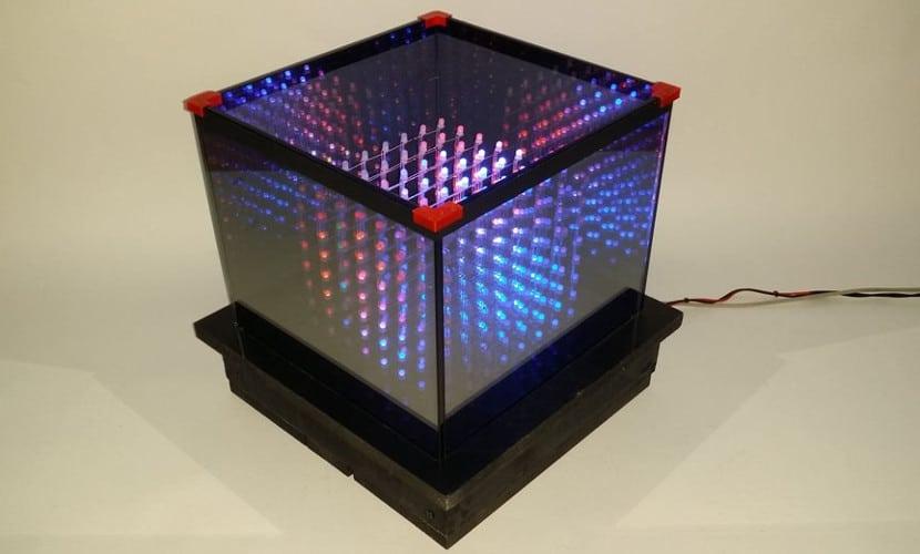 Cubo de luces led rgb con Arduino