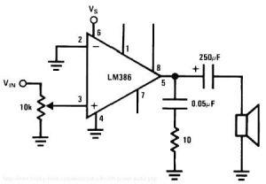 Circuitería del amplificador