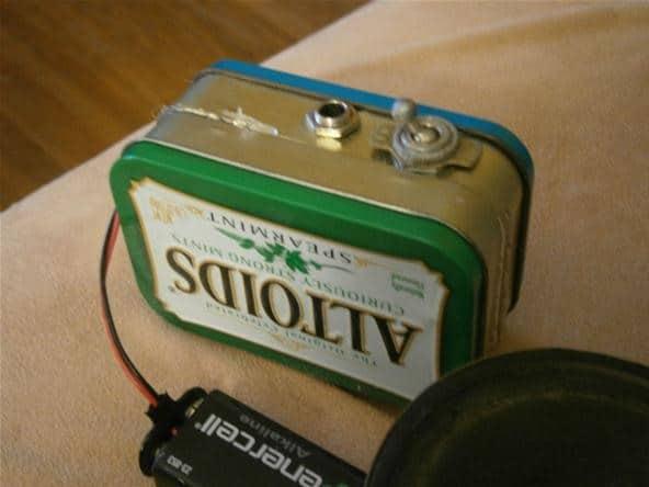 Mini-amplificador montado
