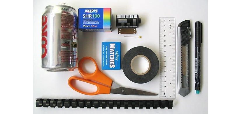 Materialespara construir la cámara estenopeica