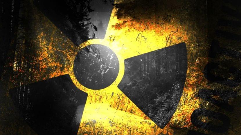 Fondo con el símbolo de Radiación