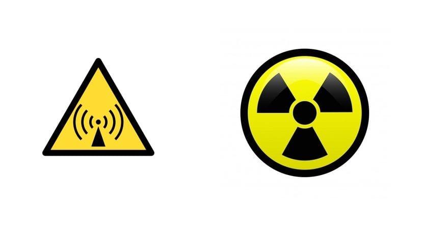 simbolos radiacion no ionizante e ionizante