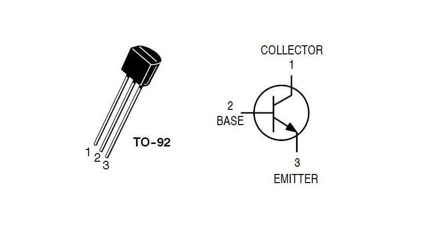 bc548 patillas y símbolo