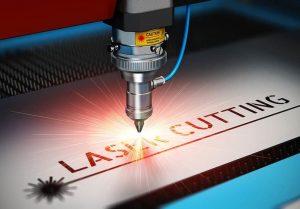 cortadora láser en acción