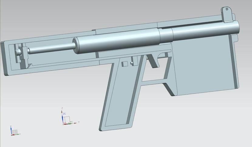 Diseño pistila Nerf 3D