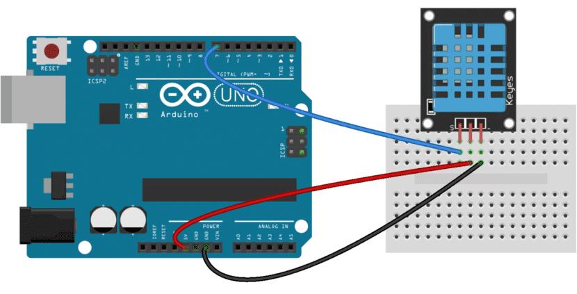 Conexión del DHT11 con Arduino