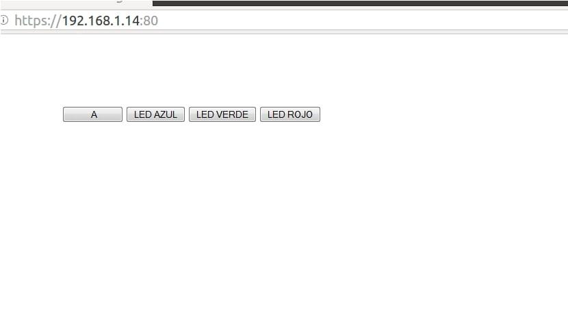 Control interfaz Web