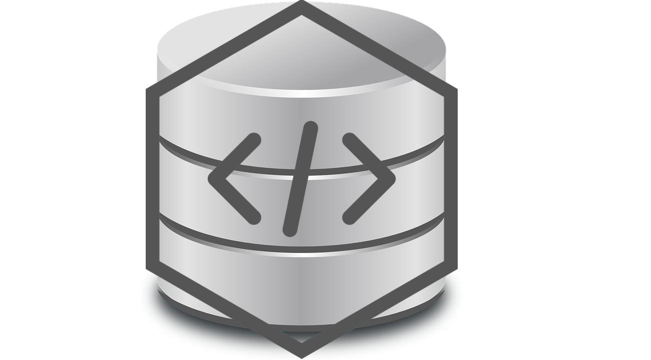 ORM (logo de base de datos y de código fuente)