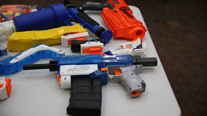 Pistolas Nerf modificadas