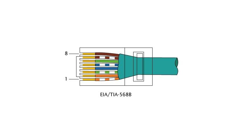 RJ45 con conexión 568B
