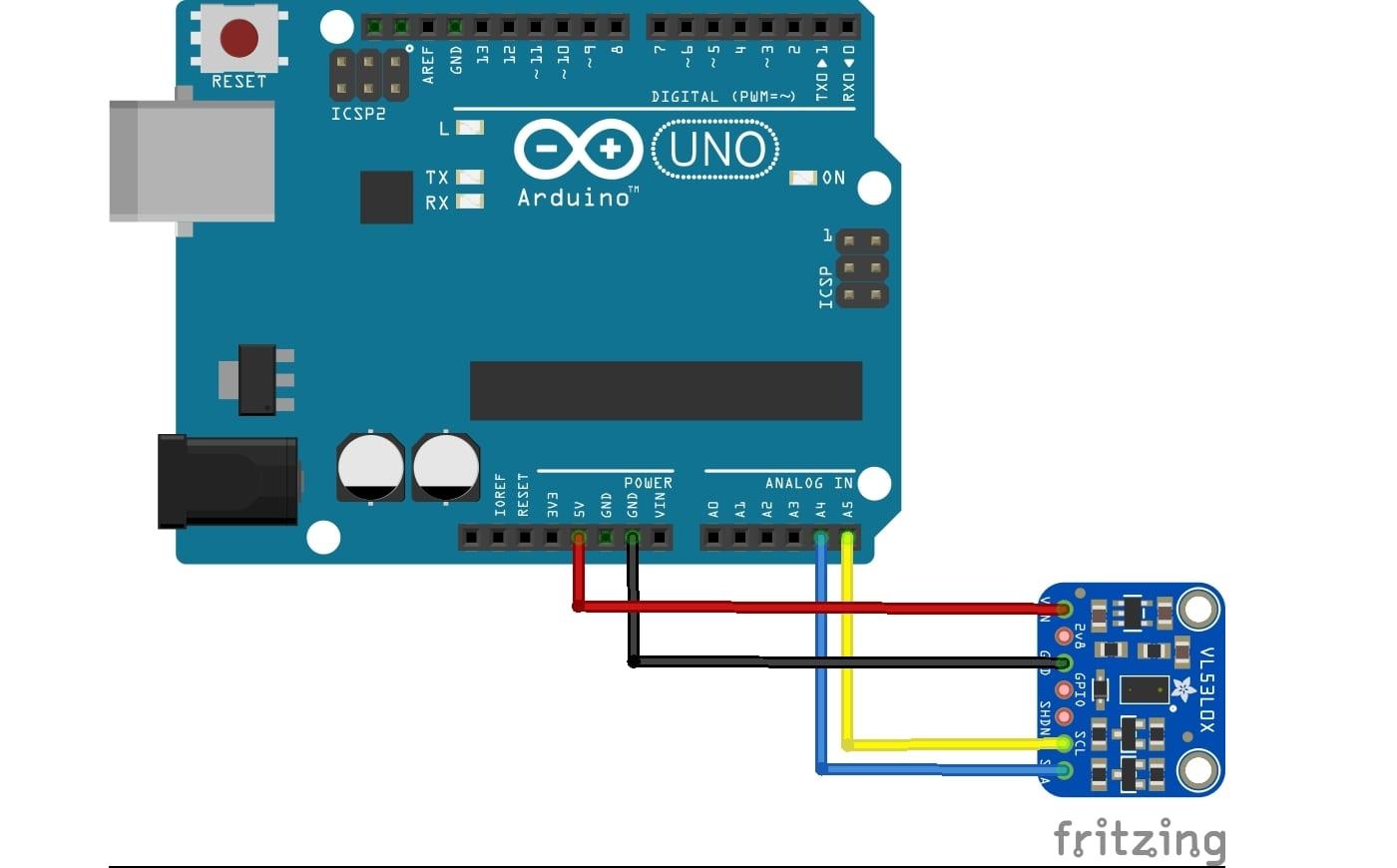 VL53L0X conectado a Arduino