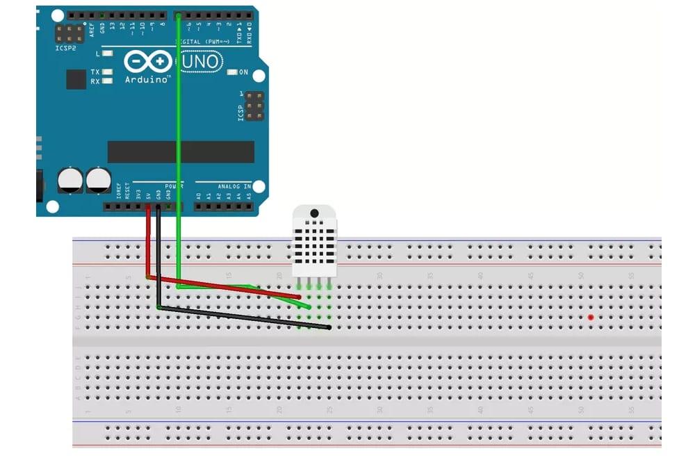DHT22 conectado a placa Arduino UNO