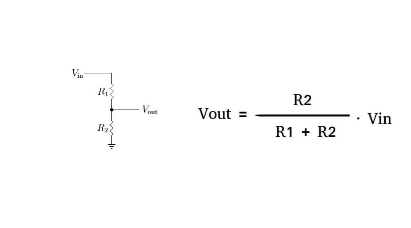 Divisor de tensión - diagrama