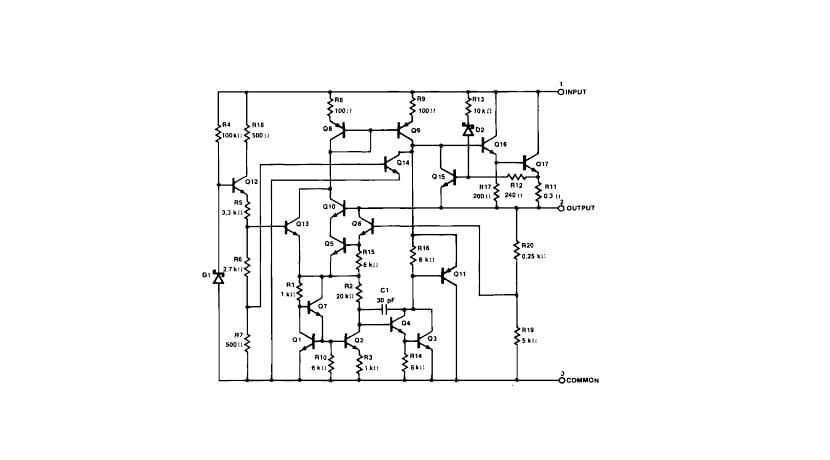 Circuito interno del LM7805