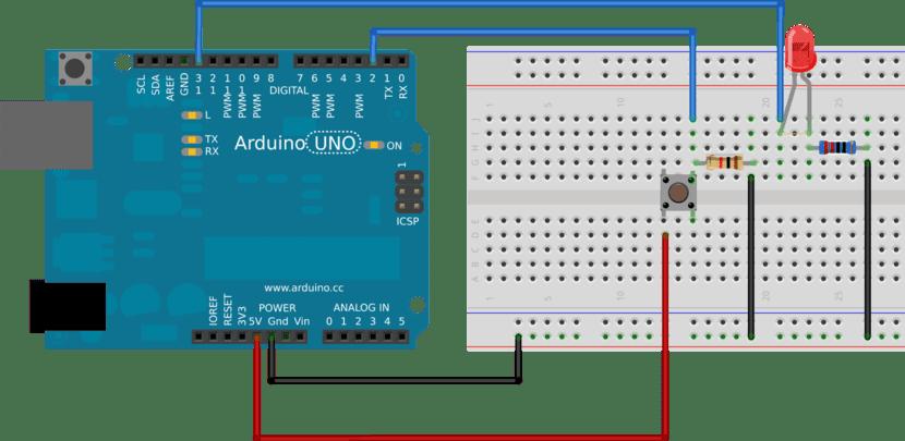 antirebote con pulsador y Arduino