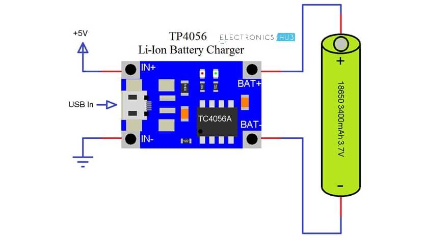 esquema de conexión TP4056