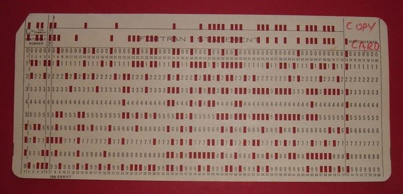 IBM tarjeta perforada