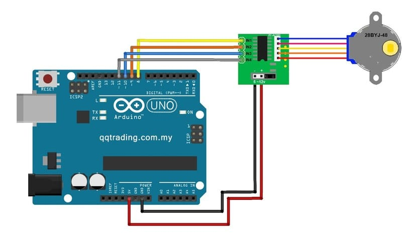 Arduino con motor paso a paso y controlador