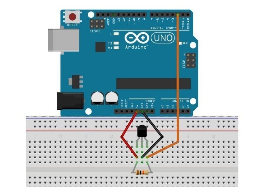 diagrama de conexión del sensor efecto Hall con Arduino