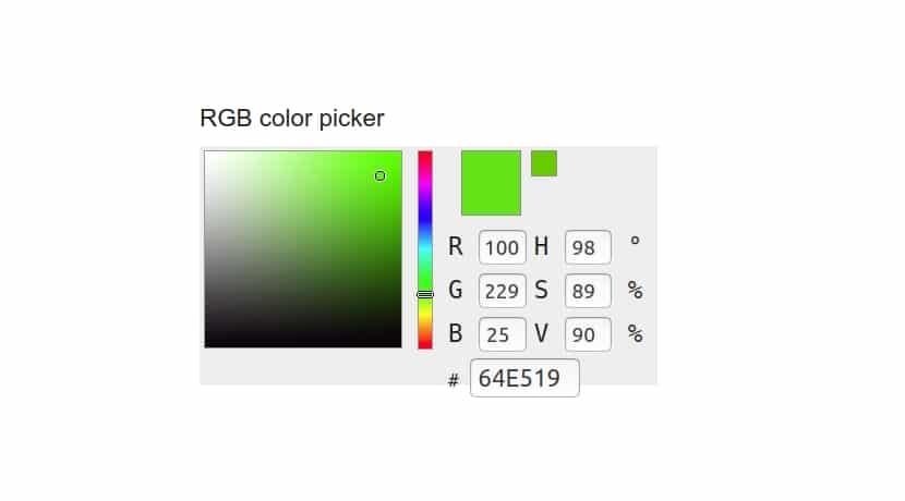 Color verde llamativo RGB