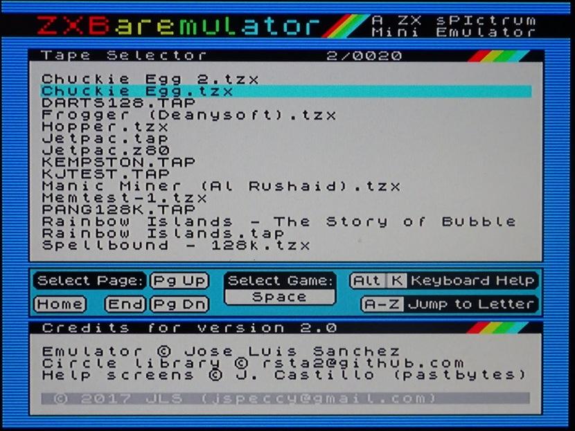 ZXBaremulator