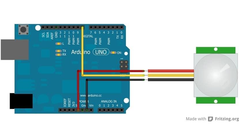 hc-sr501 conexión con Arduino