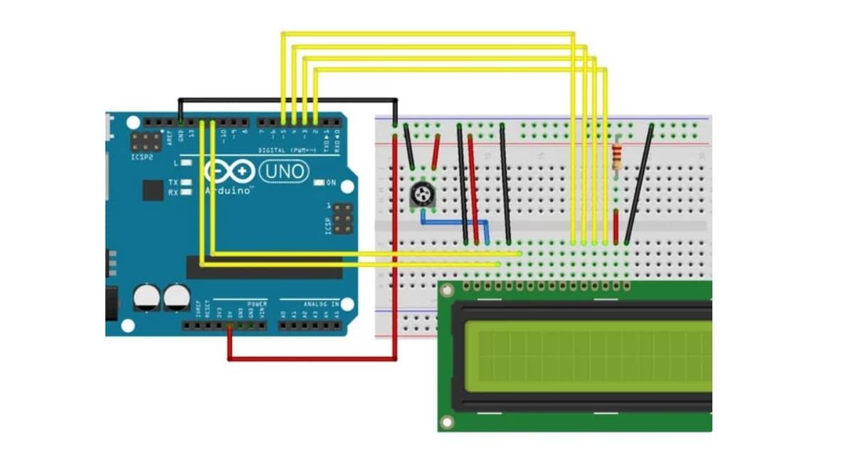esquema Arduino Nano LCD