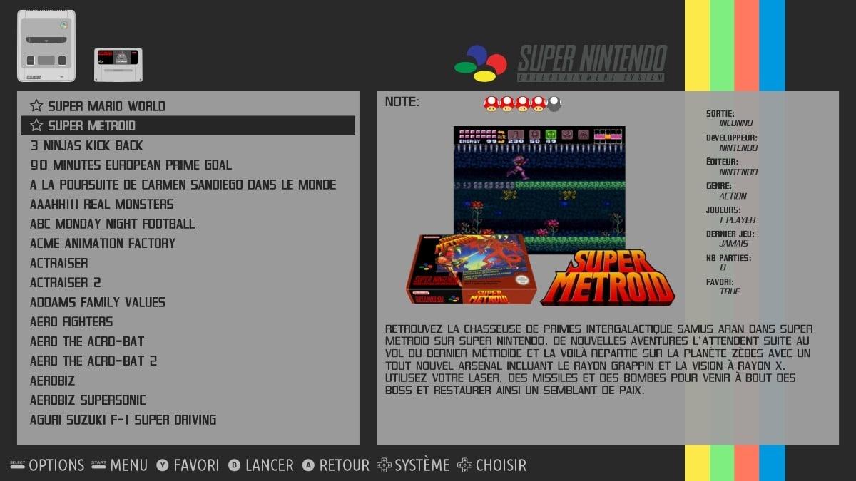 RecalBox, juegos retro