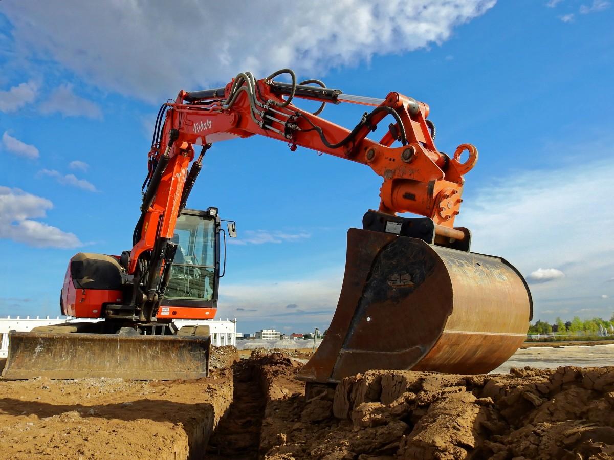 Excavadora actuador hidráulico