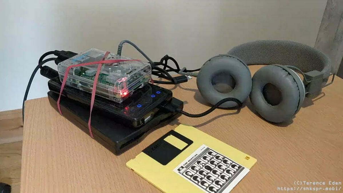 Walkman disquete con Raspberry Pi