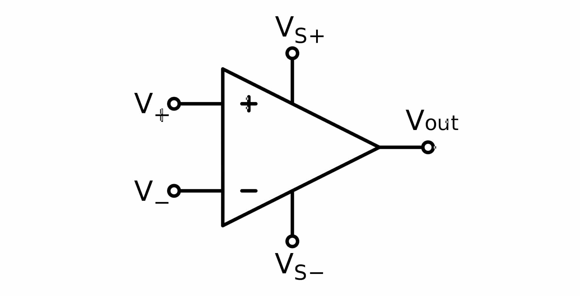 símbolo amplificador operacional