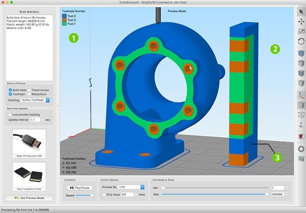 Simplify3D, mejores programas de impresión 3D